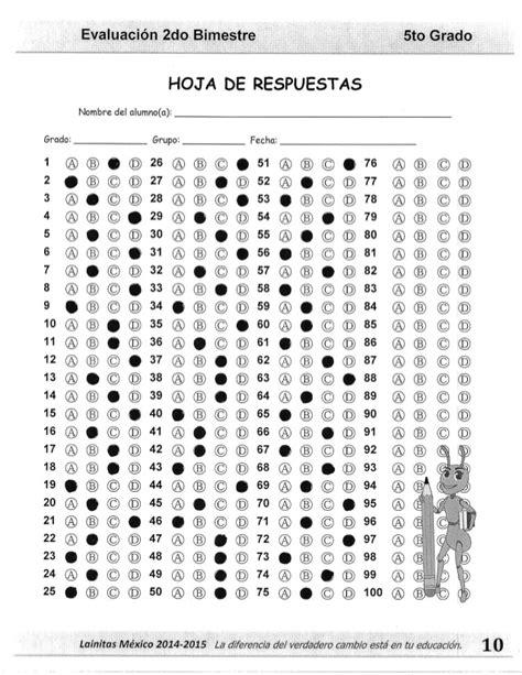 respuestas del examen de 5 grado bloque 4 5to grado bloque 2 clave de respuesta