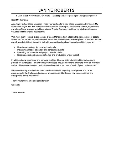 Exle Of Cover Letter For Supervisor Position by Best Supervisor Cover Letter Exles Livecareer