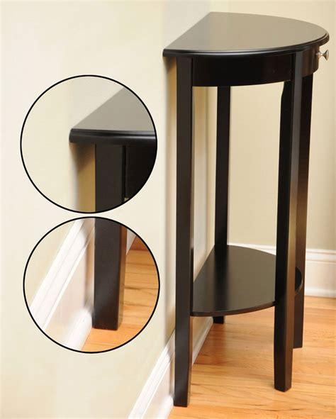 half circle accent table bay shore half circle console table in accent tables