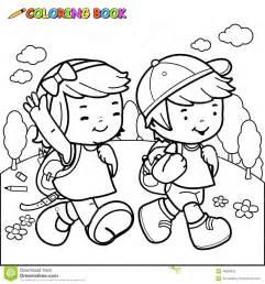 promenade d enfants de livre de coloriage 224 l 233 cole