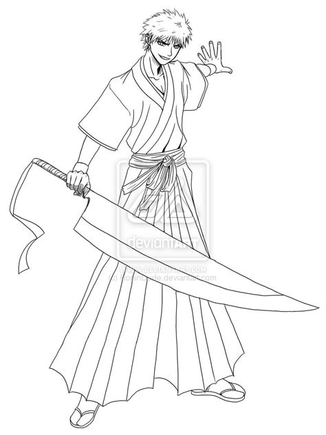ichigo kurosuki free coloring pages
