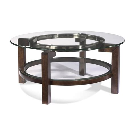 Shop Bassett Mirror Company Oslo Glass Round Coffee Table Bassett Coffee Tables