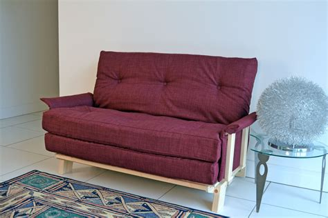 Compact futon sofa bed full size double futon with small footprint as