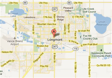 longmont colorado map longmont eye doctor location map dr terry robinson