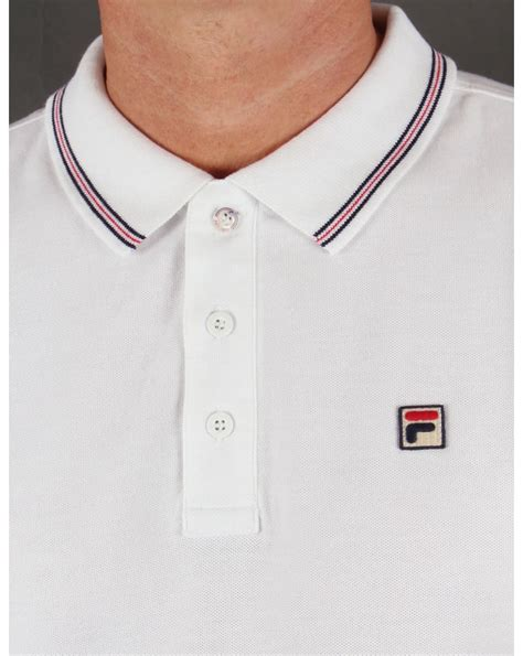 Polo Shirt Fila 3 fila vintage matcho 3 polo shirt white classic mens