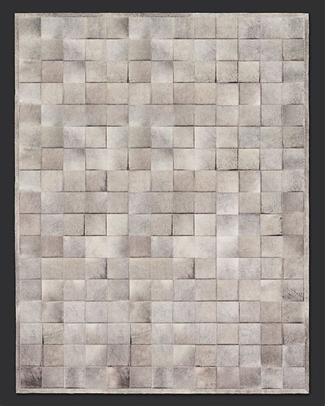 Cowhide Tile Rug Argentine Cowhide Tile Rug Grey Restoration Hardware