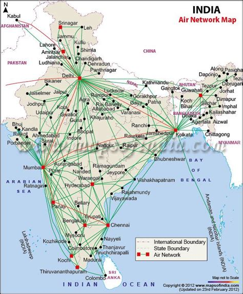 flight route map from india to usa airports and air route map of india map of india