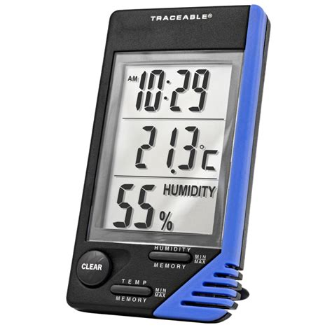 termometro reloj  medidor de humedad certificado emyr