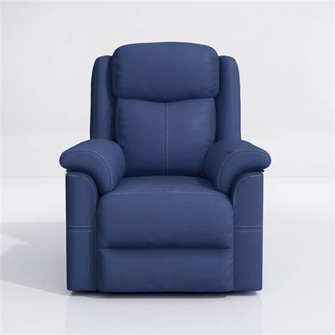 louis donne recliner chair padded pu leather home theater