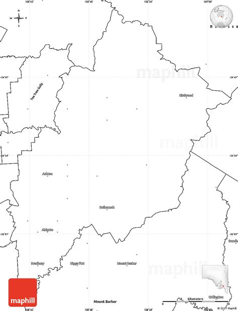Blank Outline Map South Australia by Blank Simple Map Of Adelaide