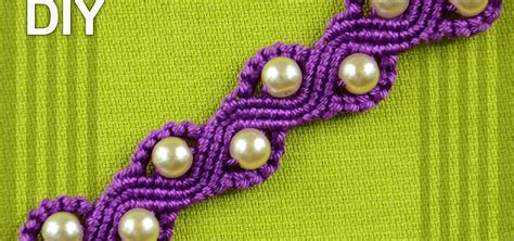Macrame How To Make - how to make a snake or a wave macrame bracelet with