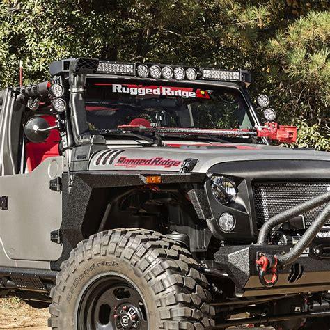 jeep jk led light bar jeep jk elite light bar kit rugged ridge 11232 56