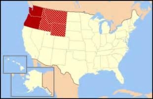 Map Of Nw United States by Northwestern United States Wikipedia