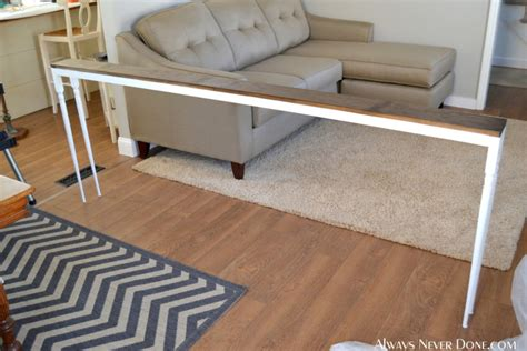 behind the couch table name 25 sofa table tutorial