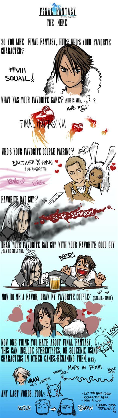 Final Fantasy Memes - final fantasy meme by makian on deviantart