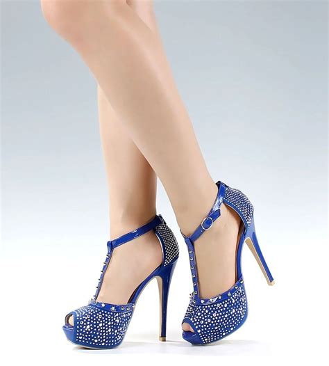 high heels wedges sandals royal blue dress strappy 5 quot high heels wedges womens