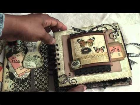 tutorial scrapbook gratis made from acid and lignin free paper bags vintage and