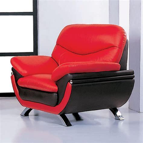 beverly hills furniture jonus modern redblack leather accent chair  lowescom