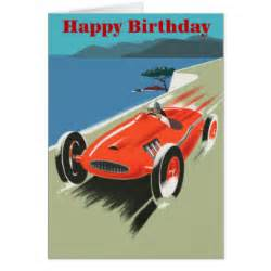 race car happy birthday cards invitations photocards more