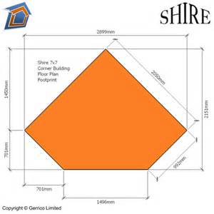 Log Cabin House Plans shire corner 7x7 shed