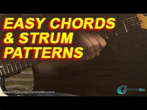 strumming pattern youtube beginner guitar easy chords strum patterns youtube