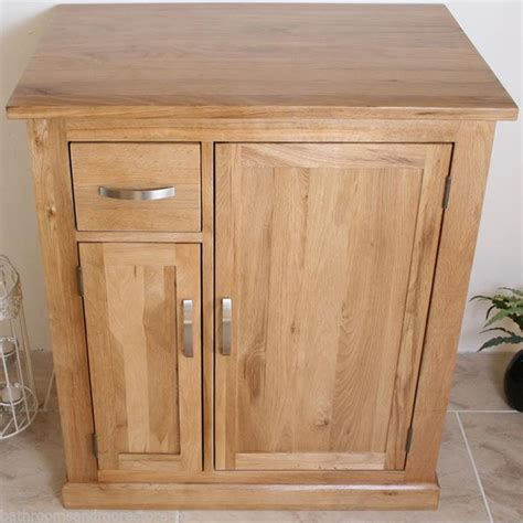 Ebay Bathroom Furniture Solid Oak Bathroom Furniture Vanity Cabinet Cupboard Storage Unit 750mm Ebay