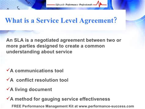 Information Technology Service Level Agreement Template developing and implementing slas that drive organizational