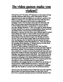 Violence Essay Ideas by Essay On Videogames And Violence Study On Consumer Learning Resume Cover Letter Exles