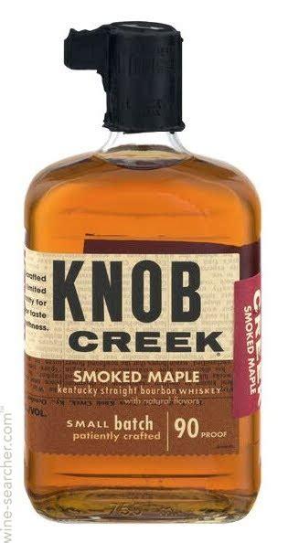 knob creek smoked maple bourbon whiskey kentucky