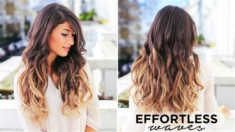 how to curl s hair effortless waves tutorial youtube