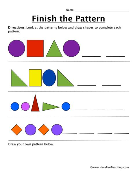pattern sequencing activities sequence worksheets have fun teaching