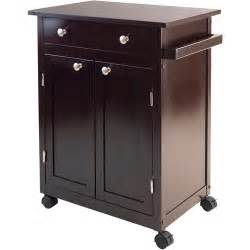 kitchen cart cabinet espresso walmart