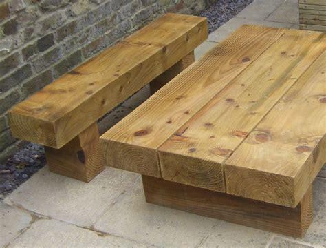 Railway Sleeper Garden Table by Roy S Garden Furniture From New Railway Sleepers
