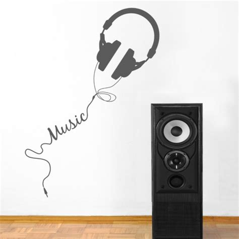 wall decal music vinyl stickers quaver led musical wave notes art