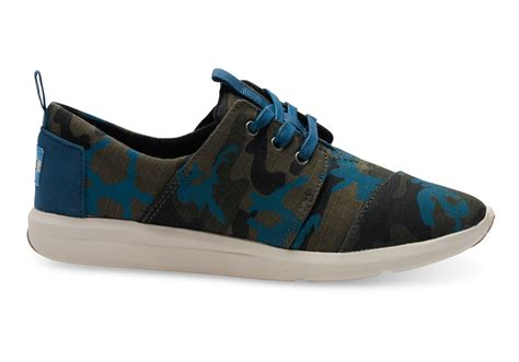 toms sneakers toms camo canvas printed s sneakers in green