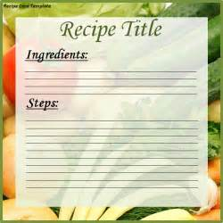 recipe template for word recipe card template word excel pdf