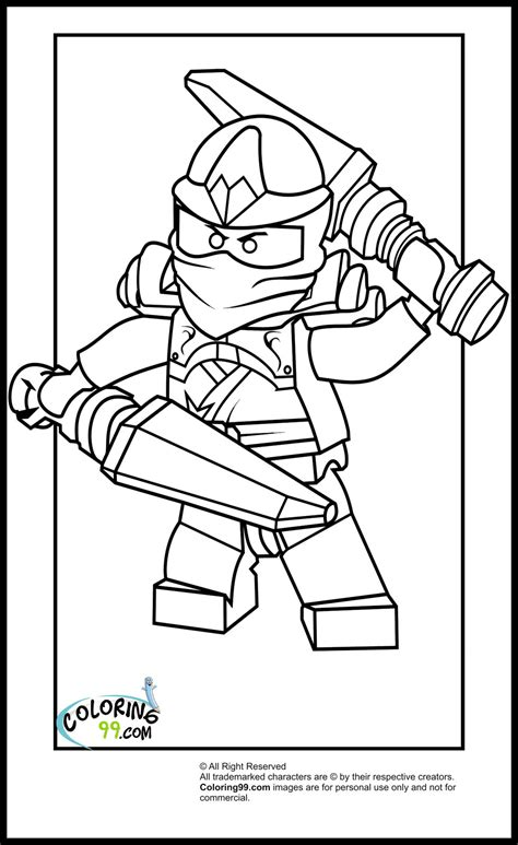 free coloring pages of red lego ninja on dragon