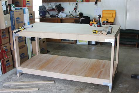 how to build a work table enter to win a workbench shelving kit for a chance to