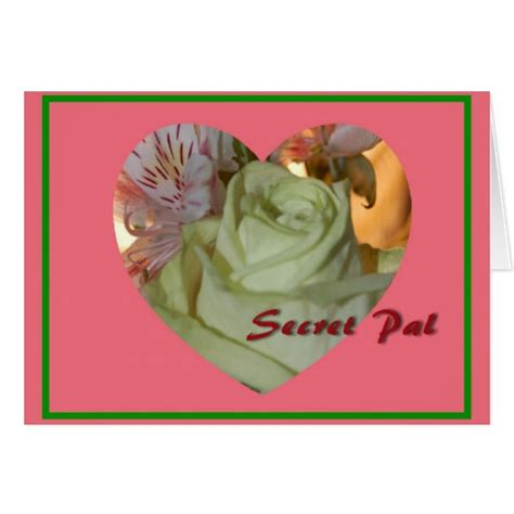 secret valentines flower secret pal s day card zazzle