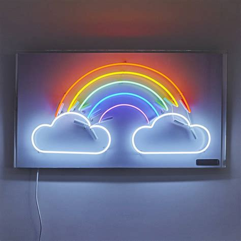 neon light signs rainbow and clouds neon light sign by brilliant neon