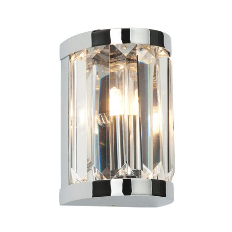 crystal lights for bathroom saxby 39628 crystal 1 light bathroom wall light in chrome