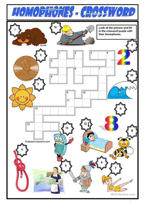 printable homograph puzzle homophones worksheet free esl printable worksheets made