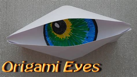 Origami Eye - make origami paper cyclops eye origami simple