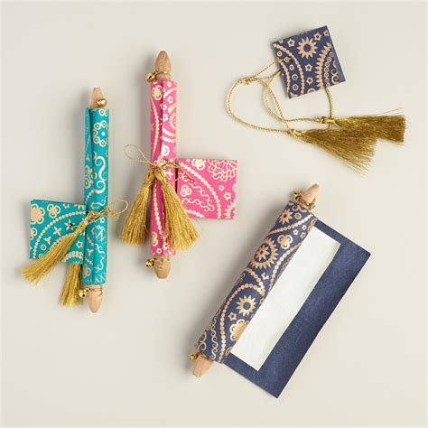 Handmade Scrolls - handmade paisley note scrolls set of 3 world market