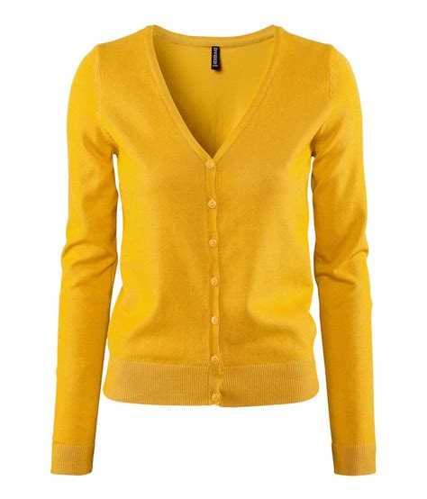 Cardigan H M H M Cardigan In Yellow Lyst