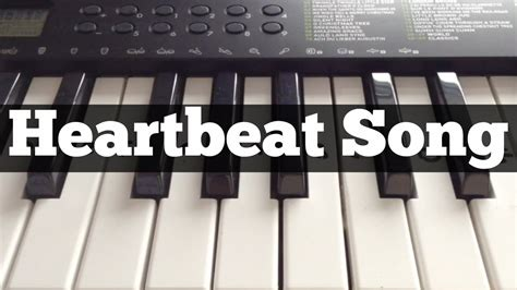 tutorial on keyboard heartbeat song kelly clarkson easy keyboard tutorial
