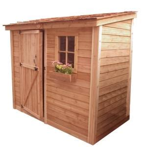 Shed Locks Home Depot by Outdoor Living Today Spacesaver 8 Ft X 4 Ft Western Cedar Single Door Shed Ss84 The Home