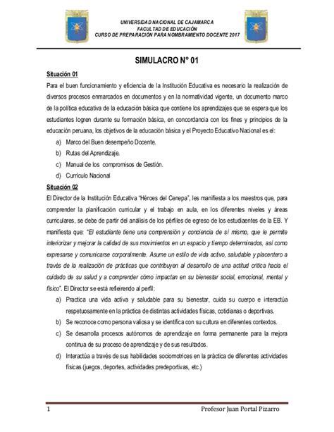 temario del examen del examen ascenso de nivel simulacro de examen para nombramiento docente 2017