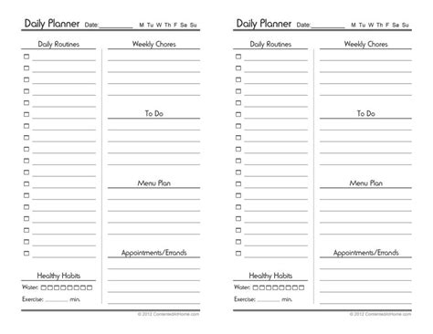 weekly planner template free 40 printable daily planner templates free template lab