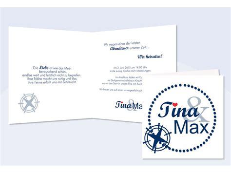 Hochzeitseinladung Maritim by Einladung Hochzeit Quot Maritim Quot